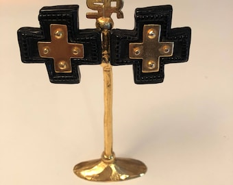 Christian Lacroix earrings vintage cross Christian Lacroix vintage cross earrings