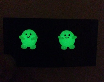 Doctor Who Glow in the Dark Adipose Earrings