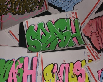Hand drawn stickers, each one of a kind can't find them anywhere else
