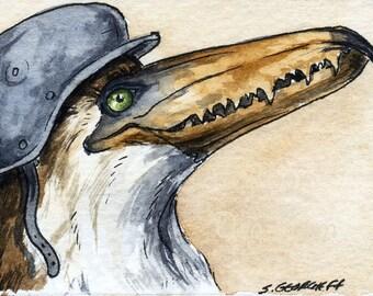 The Pelagornis Sandersi~~ No 65 of 100 series- ~ signed watercolor print