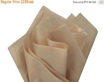 TAX SEASON Stock up 24 Sheets 15x20 Inch Natural kraft Color Tissue Paper Pack