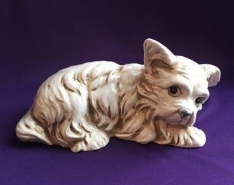 Vintage dog figurine by Shafford of Japan
