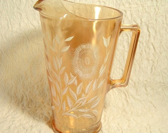 Glass Pitcher - Gold Luster