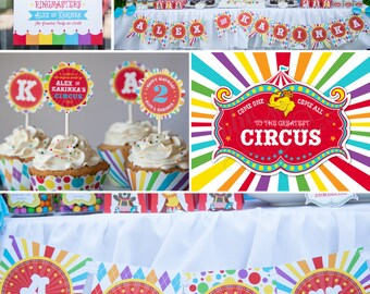 DIY Printable Birthday Party Package by BluGrass Designs - Circus