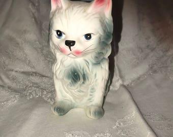 Vintage Long Haired Cat Planter