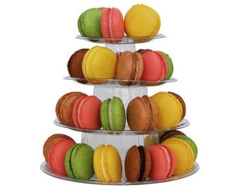 4 Tier Macaron Tower Display Stand for French Macarons