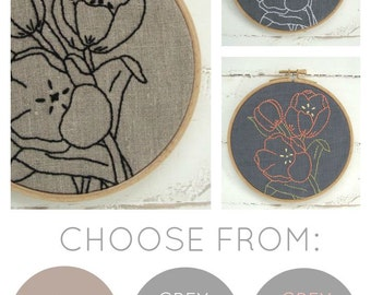 Embroidery Kit: Tulips