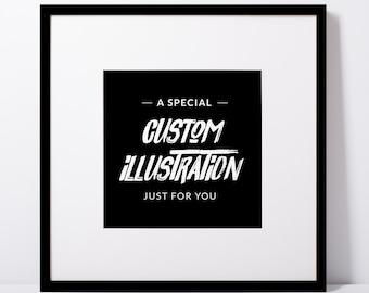 Custom Watercolour Illustration | ORIGINAL Artwork
