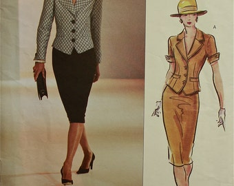"""Vogue Couture Designer Suit Pattern 2629  Uncut Sizes 6-8-10  Bust  30.5-31.5-32.5"""""""