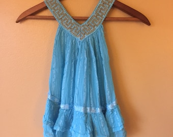 Vtg Greece Gauze Baby Dress // 12-24 months 2T