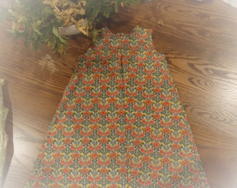 CLEARANCE****  LIBERTY of London 'The Tröpfchen Dress' baby girls dress. size 5,  NEW, Handmade. Ready to ship