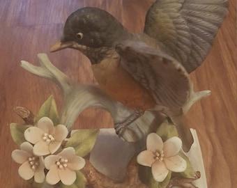 Vintage robin figurine, vintage lefton figurine, vintage lefton robin figurine kw4954, Japanese figurine, bird figurine, robin figurine