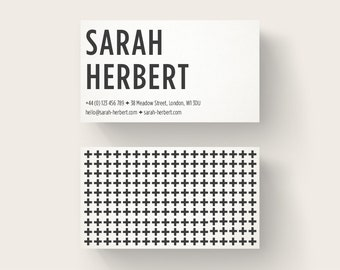 Business Card Design, cross background, Premade Calling Card, Unique Business Card, Customizable Design, Small Business Card, cross pattern