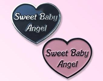 My Favorite Murder inspired Sweet Baby Angel enamel pin set / Murderino birthday gift / Sassy / Best friends pin / SSDGM / Girl power