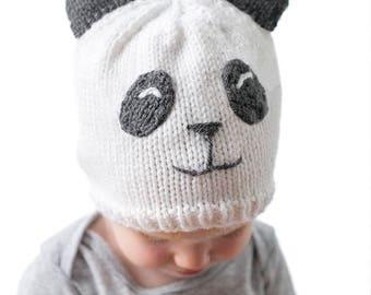 Baby Panda Hat KNITTING PATTERN / Panda Beanie / Panda Baby Hat / Panda Bear Hat / Panda Outfit / Panda Bear Nursery / Knit Panda Hat