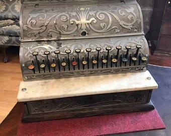 Vintage Brass Premier Cash Register