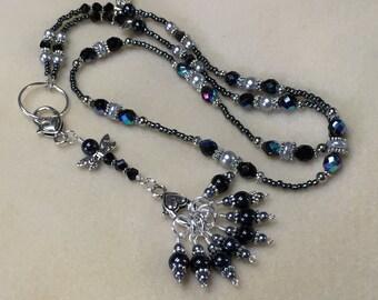 Dragonfly Stitch Marker Necklace Holder   Snag Free Stitch Markers   Knitting Jewelry