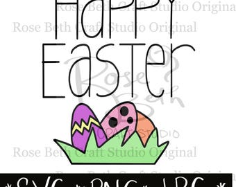 Happy Easter SVG PNG JPG Digital File Easter Cut File
