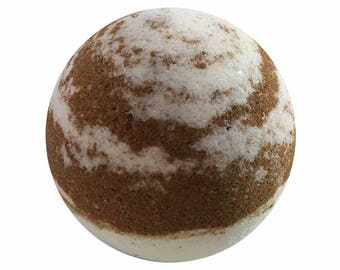 French Vanilla Bath Bomb, Bath Fizzy, Handmade Spa Product, Epsom Salts, Hydrating Coconut Oil, Sensitive Skin, Great Gift for Her