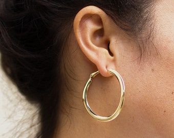 Gold Hoop Earrings | Hoop Earrings | Gold Hoops | Simple Gold Hoops | Hoop Earring Gold | Gold Earrings | Gold Earrings for Women | Earrings