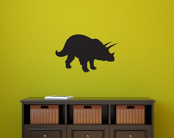 Dinosaur Decal - Triceratops Wall Decal - Boy Bedroom Decal