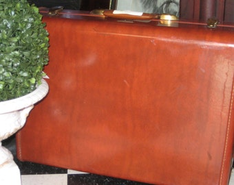 Vintage Samsonite Luggage w/Key  Fashion Travel Luggage