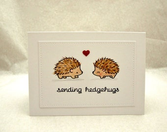 Hedgehog Birthday Card, Hedgehog Anniversary Card, Hedgehog Card, Happy Birthday Hedgehog, Happy Anniversary Hedgehog, Punny Birthday Card