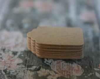 50 Mini Kraft Blank Tags ~ Mini Swing Tags  ~ DIY projects ~ Price Tags
