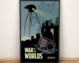 War of the Worlds  | Book Poster | Unframed