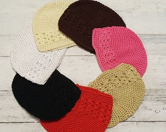 INFANT-TODDLER Small Crochet Kufi Hat *******CLOSEOUT********* Assorted Colors