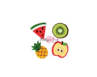 Fruit Flatback Resin Embellishment - Fruit Applique- Button- Embellishment- DIY Headband Supply