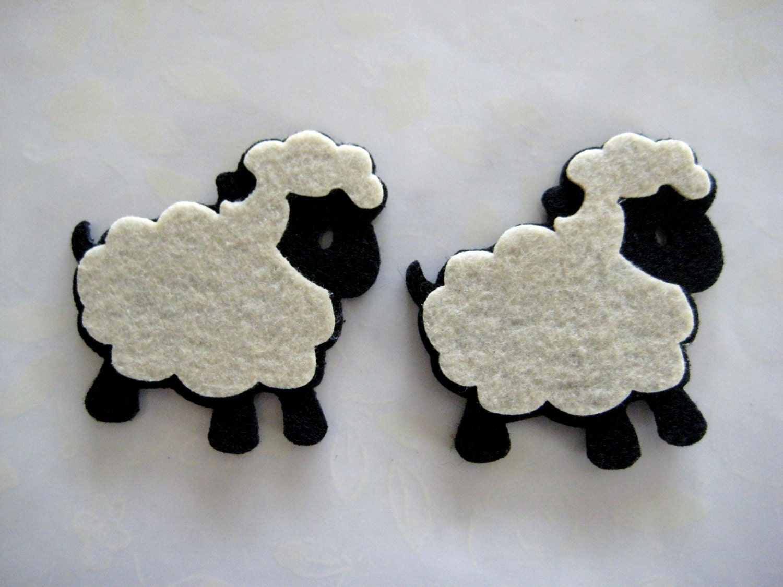 little black lamb felt animal ornaments for lamb theme baby
