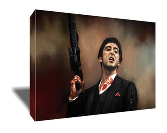 FREE SHIPPING Al Pacino as the Infamous Scarface Canvas Art