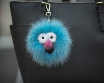 Fur Pom Monster Charm