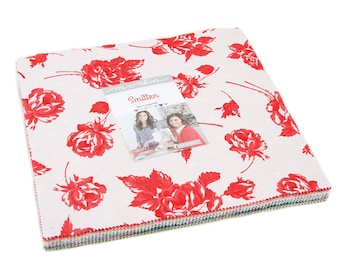 "Smitten Layer Cake (42 - 10"" x 10"" Squares) designed by Bonnie & Camille for Moda Fabrics"