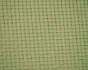 canvas aida 5.5 / cm 40 x 50 cm 86 green Mint light Luc