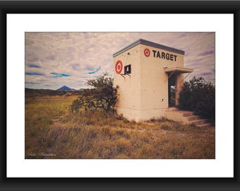 Fine Art Print of Target Store art installation in Marathon, Texas, Photography, Roadside art, West Texas, Texas, Installation