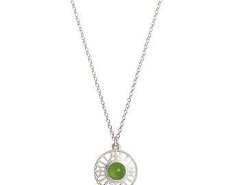 Stonegate silver/peridot pendant