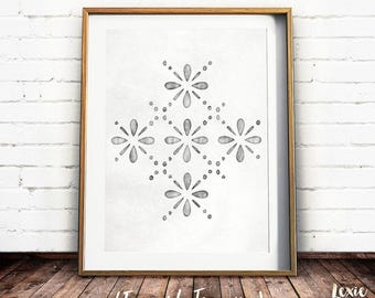 Scandinavian Pattern, Grey Pattern, Scandinavian Print, Grey Wall Art, Scandi Print, Grey Print, Printable Wall Art