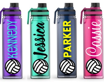 Volleyball Gifts - Water Bottle for Volleyball - Water Bottle with Name - Volleyball Team Gift - 20 oz Water bottle with name - Coach Gift