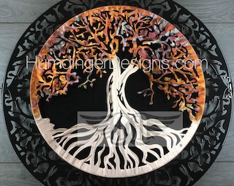 Copper Kitchen Tree of Life Metal Art Wall Decor