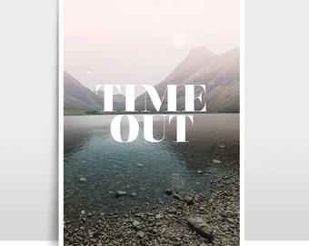 """A3 Artprint """"Time Out"""""""