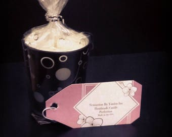Eau Perfume Votive Glass Candle with Polka Dot Perfection