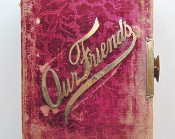 1800's Red Velvet Victorian Photo Album