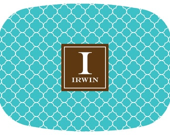 Personalized Platter- Personalized Wedding Gift- Personalized Melamine Platter- Clover- Customize Color & Monogram