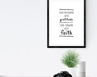 Backward/Forward | Gratitude Print | Wall Print | Wall Art | Faith | Art Print
