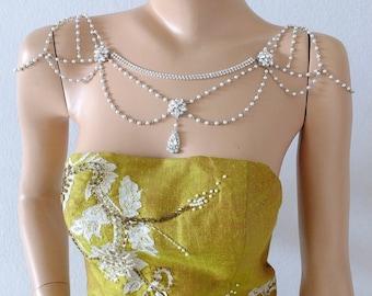 SWAROVSKI hombro collar para la boda, de Dama de honor, proms, fiestas, coctel, noche, todos los días y especial ocasión. Estilo #001