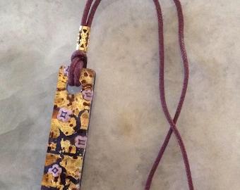 Purple Cord Necklace