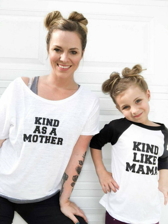 2 Piece SET, Kind As A Mother, Mama and Her Mini Tees, Kind Like Mama
