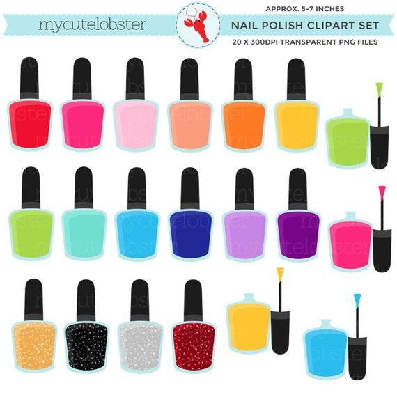 nail polish clipart set clip art set of nail polish rh etsy com nail polish clipart black and white nail polish clip art free